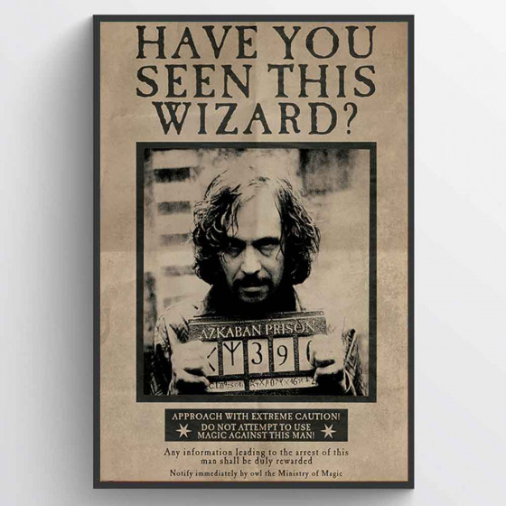 Harry Potter - Wanted Sirius Black Plakat wallsticker