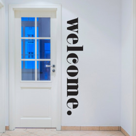 Welcome wallsticker