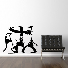 Banksy elefant missil wallsticker wallsticker