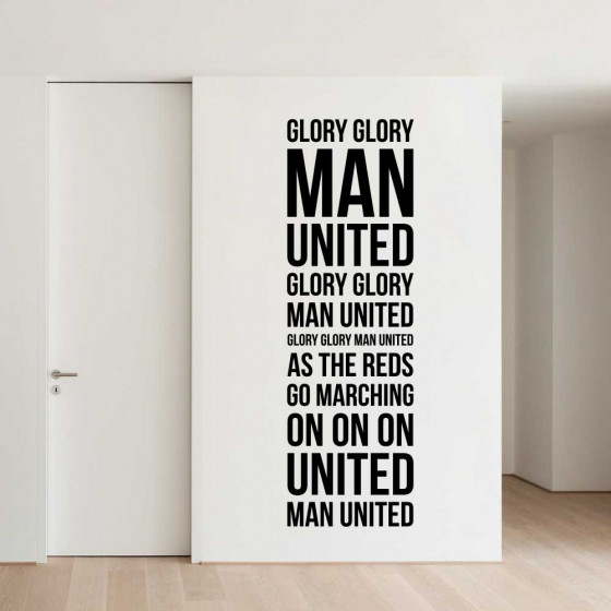 Glory glory Man. United! wallsticker