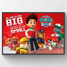 Paw Patrol No Pup Is Too Small Plakat wallsticker