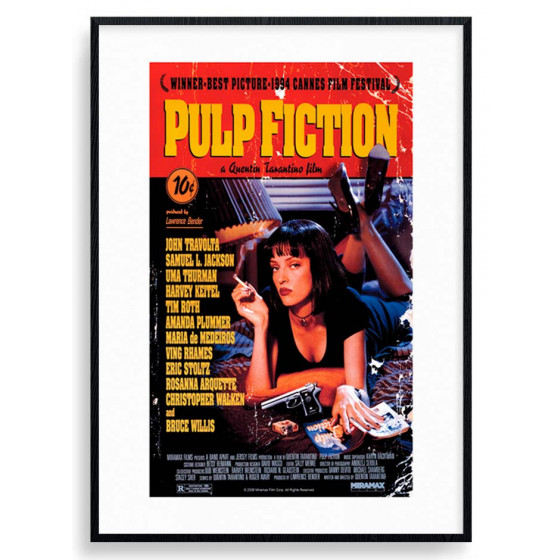 Pulp Fiction Plakat wallsticker