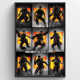 Call of Duty: Black Ops 4 (Characters) Plakat wallsticker