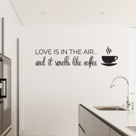 Love is in the air - Coffee wallsticker