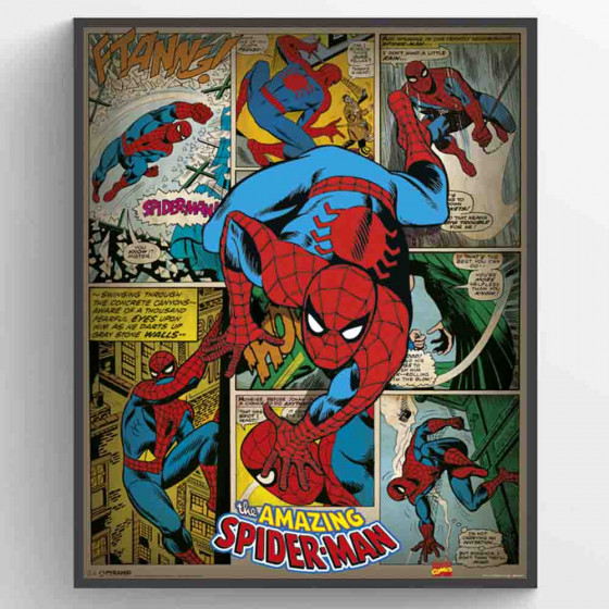Spiderman Retro Plakat wallsticker
