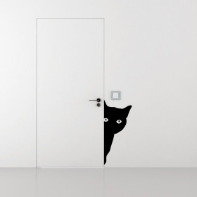 Lurking katt wallsticker