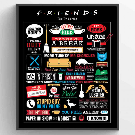 Friends (Infographic) Plakat wallsticker