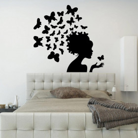 Butterfly woman wallsticker
