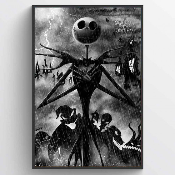 Nightmare Before Christmas Plakat wallsticker