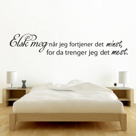 Elsk meg wallsticker