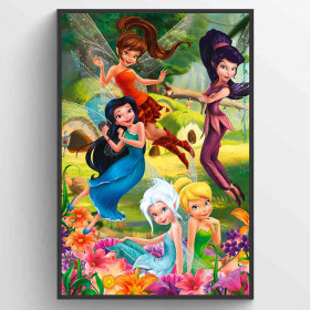 Disney Fairies Flowers Plakat wallsticker
