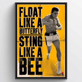 Muhammad Ali Float Like A Butterfly Plakat wallsticker