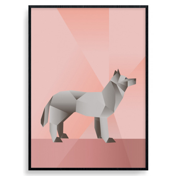Polygon Wolf Plakat wallsticker