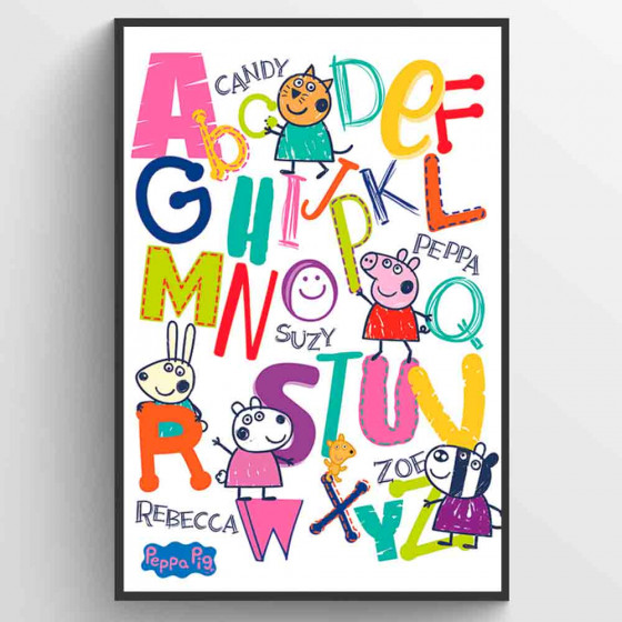 Peppa Gris Alphabet Plakat wallsticker