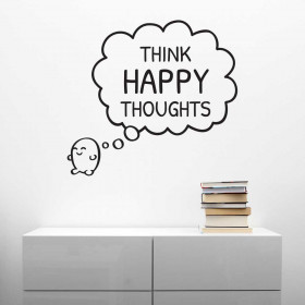 Think happy thoughts wallsticker