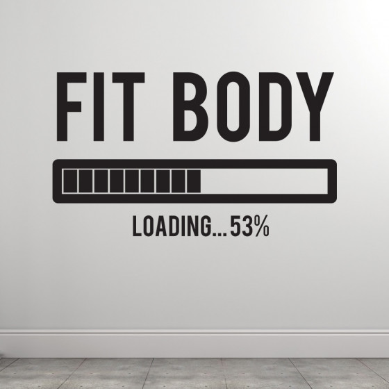 Fit body loading wallsticker