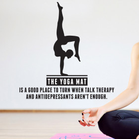 Yoga therapy wallsticker