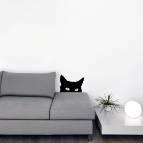 #2 Lurking katt wallsticker