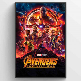 Avengers Infinity Wars One Sheet Plakat wallsticker