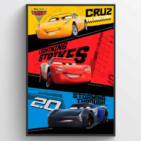 Cars 3 Trio plakat wallsticker