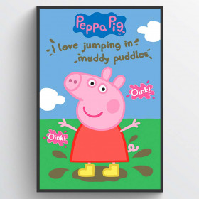 Peppa Gris Muddy Puddles Plakat wallsticker