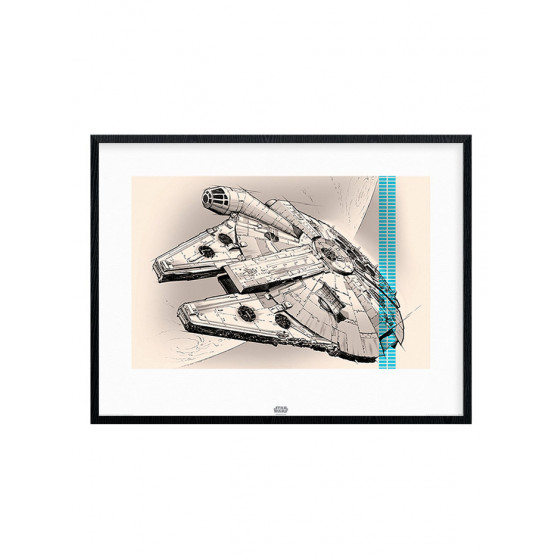Star Wars Episode VII - Millennium Falcon Plakat wallsticker