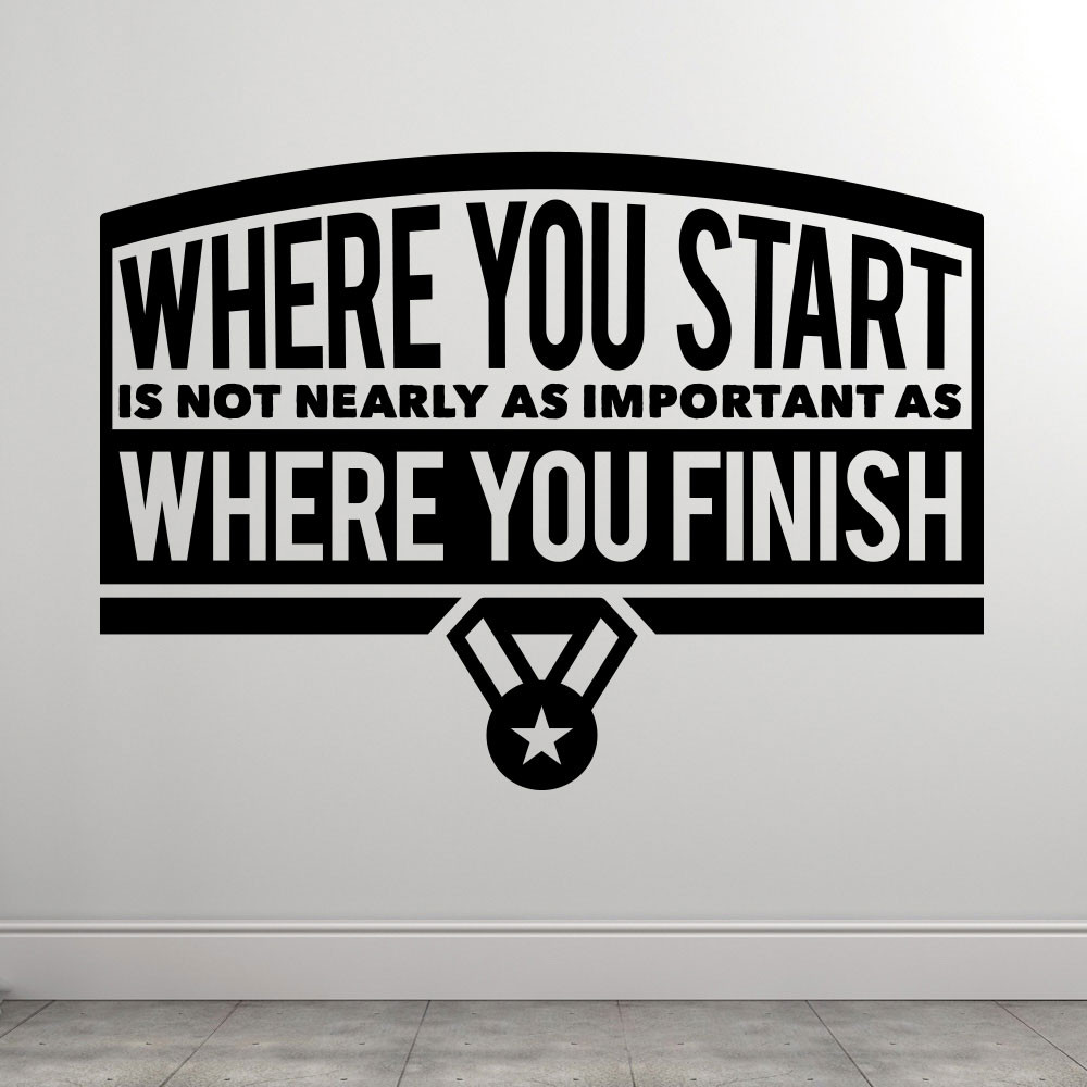Where You Start wallsticker