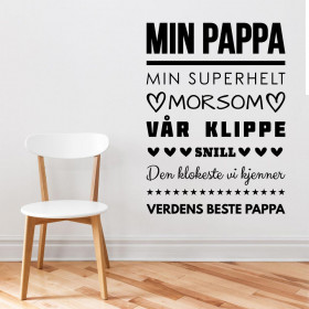Min pappa wallsticker