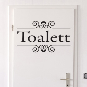 Toalett wallsticker
