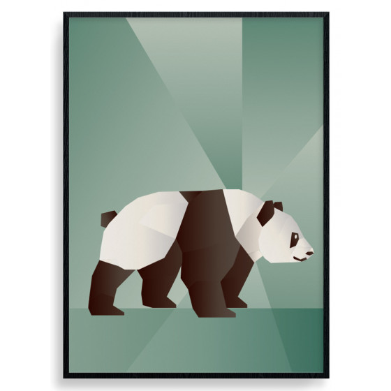 Polygon Panda Plakat wallsticker