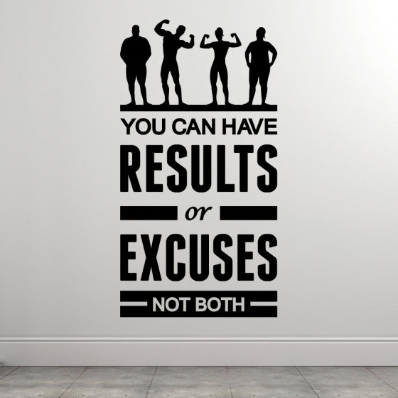 Results or excuses wallsticker
