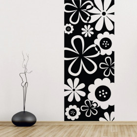Blomsterbanner wallsticker