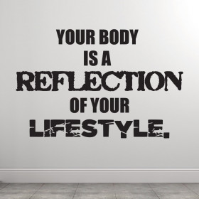 Reflection of your lifestyle wallsticker