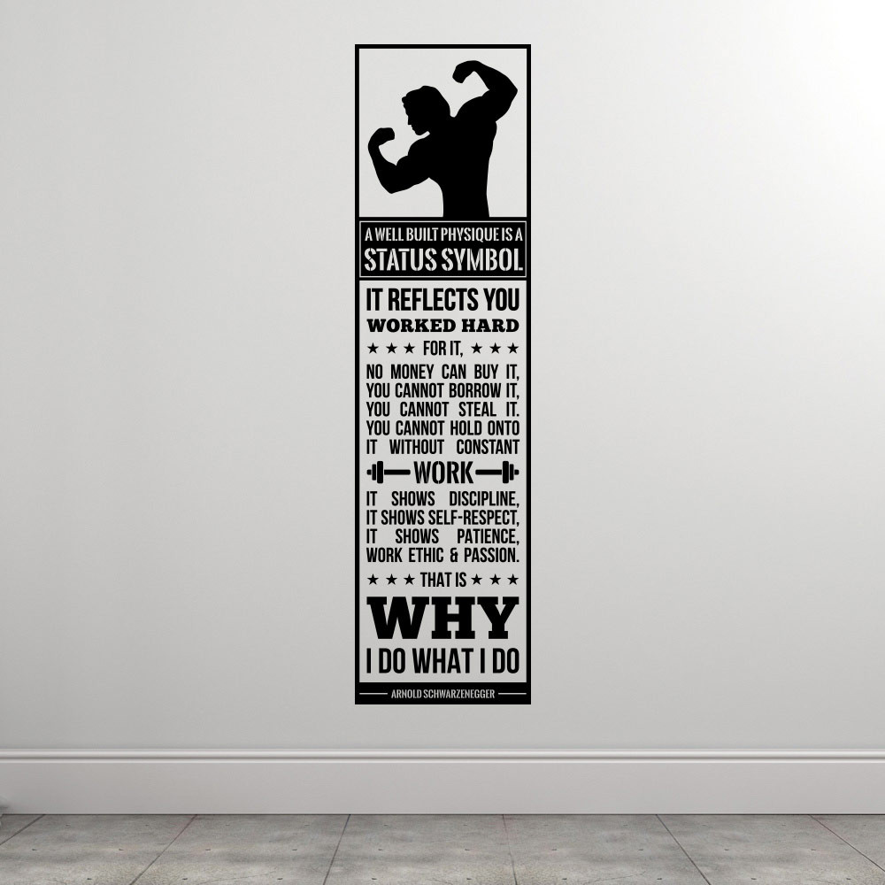 Why I Do What I Do - Arnold Scharzenegger wallsticker
