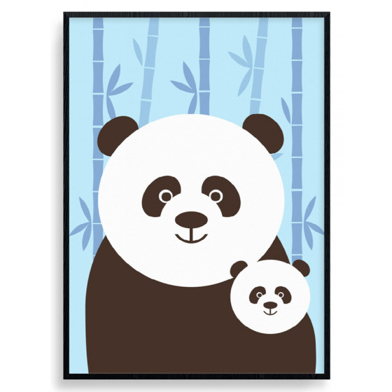 Panda Mom Plakat wallsticker