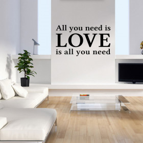 All you need is love wallsticker