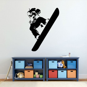 Snowboard wallsticker