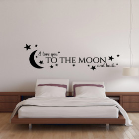 I love you to the moon and back wallsticker