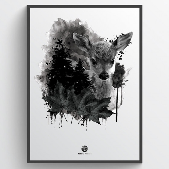 Forest deer plakat wallsticker