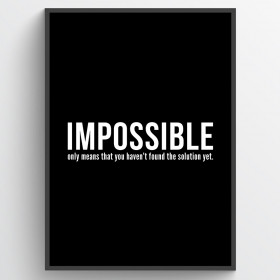 Impossible - plakat wallsticker