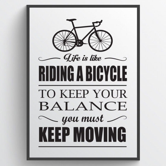 Riding a bicycle plakat wallsticker