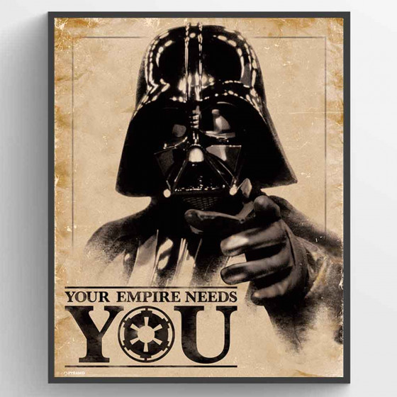 Star Wars Classic - Your Empire Needs You Plakat wallsticker