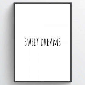 Sweet dreams - plakat wallsticker