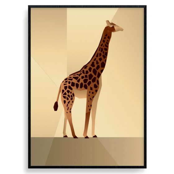 Polygon Giraffe Plakat wallsticker