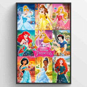 Disnet Fairies Collage Plakat wallsticker