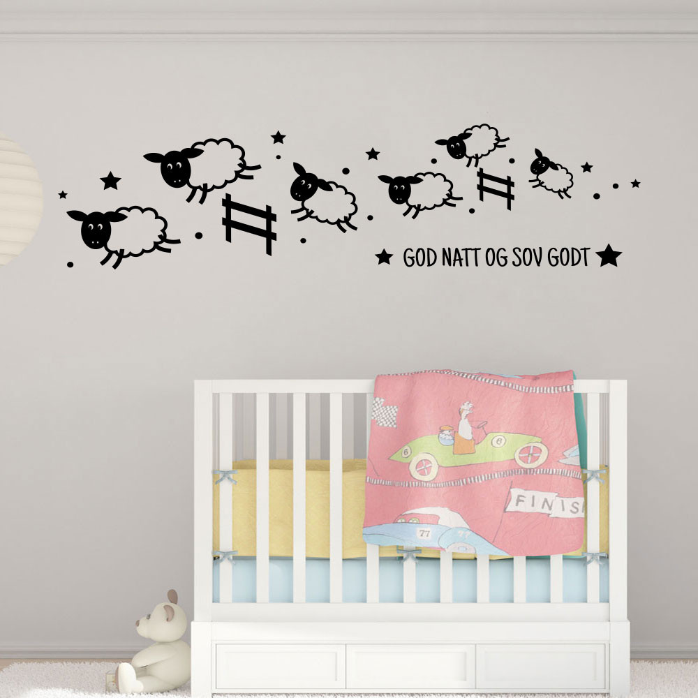 God natt og sov godt wallsticker