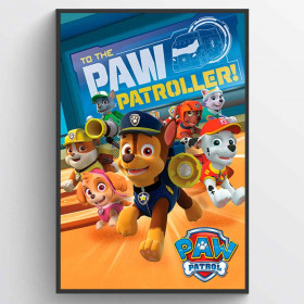 Paw Patrol To The Paw Patroller Plakat wallsticker