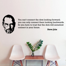 Connect the dots - Steve Jobs wallsticker