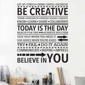Be Creative wallsticker