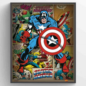 Marvel Comics (Captain America Retro) Plakat wallsticker